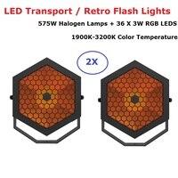LED Flach Par 575W Halogen Lampen + 36X3W RGB 3IN1 LEDS LED Retro Lichter DMX bühne Waschen Wirkung Lichter Perfekt Für Weihnachten Dj|Bühnen-Lichteffekt|   -