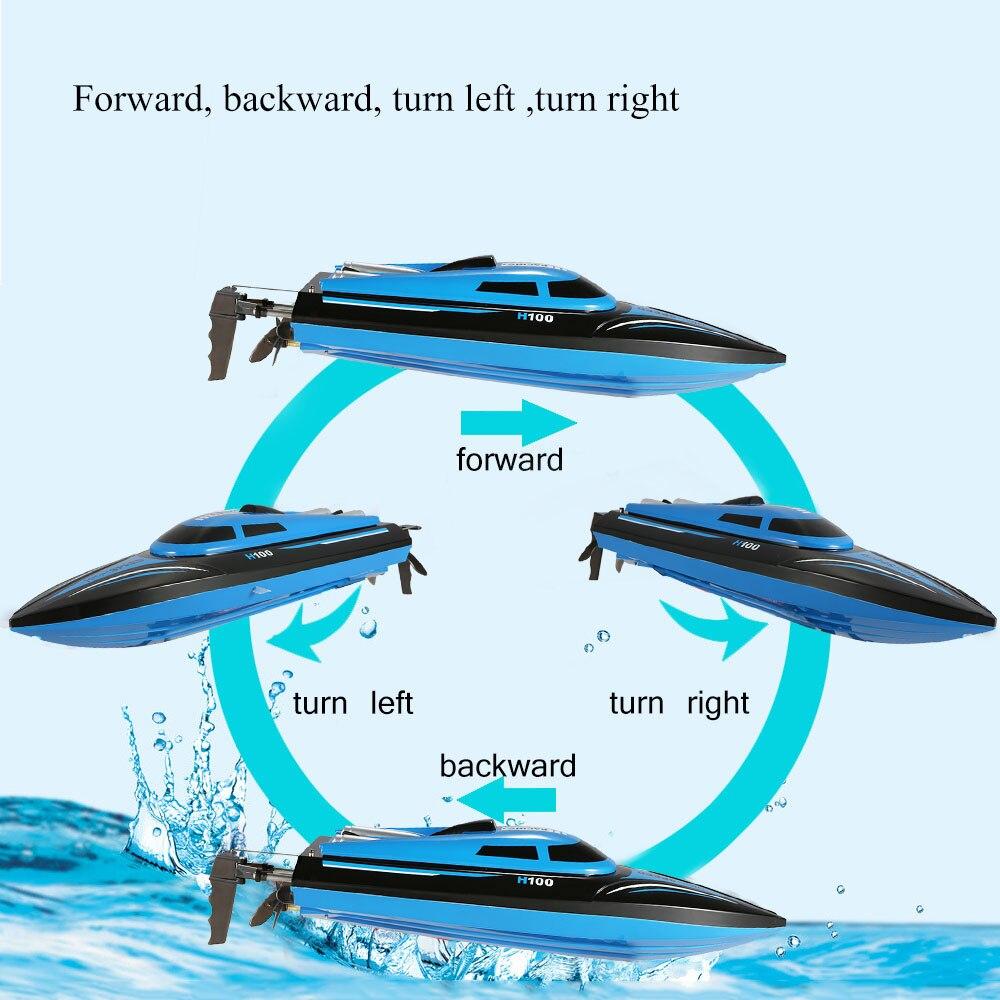 H100 2.4G 30 KM/H haute vitesse RC bateau télécommande 180 degrés Flip électrique bateau de course rapide hors bord RC bateau jouets cadeaux-in Bateaux télécommandés from Jeux et loisirs    2