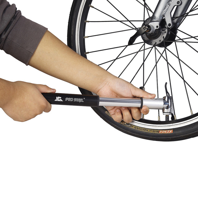 PROSTAR Portable Bicycle Mountain Bike Pump Inflator Aluminum Alloy Mini Pump Bike Accessories HQ-25