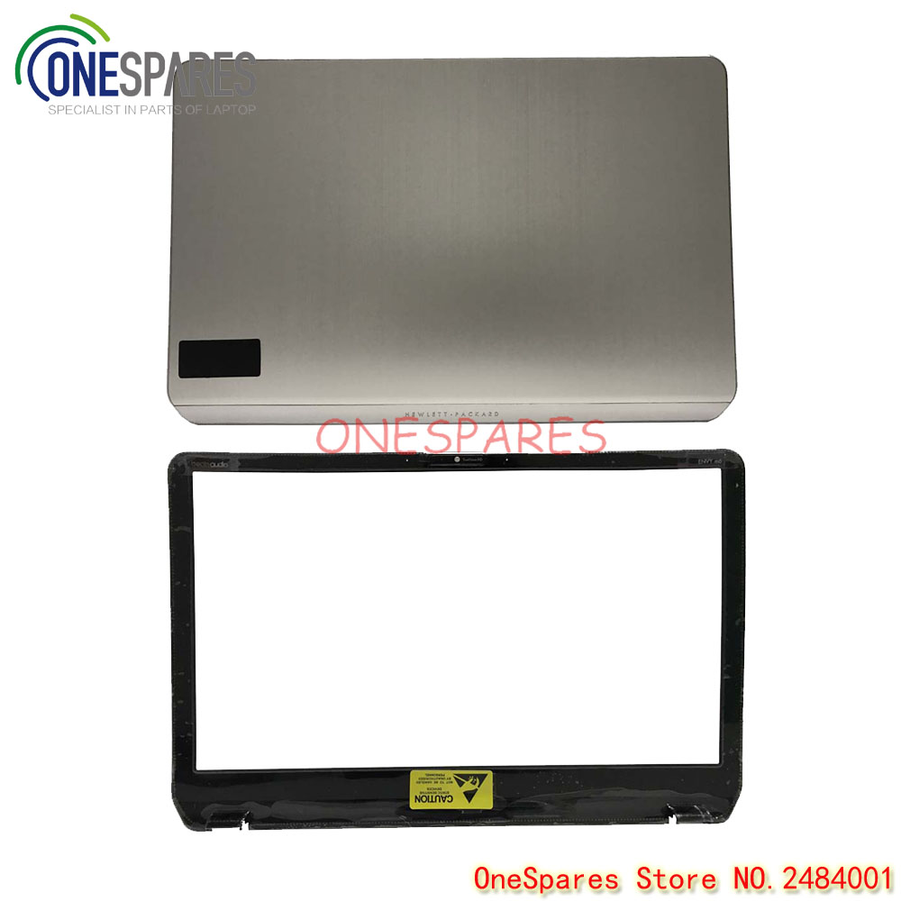 NEW Original Laptop LCD Back&Bezel Cover For HP Pavilion Envy M6 M6-1000 Series Cover Silver 690231-001 AP0R1000140 AB Shell original new 15 6laptop lower case for hp omen 15 5000 series bottom cover base shell 788598 001 empty palmrest 788603 001