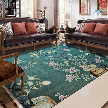 Классические пасторальные коврики для гостиной, спальни, китайский стиль, большой коврик для йоги, жаккардовый диван, напольный коврик, ков...