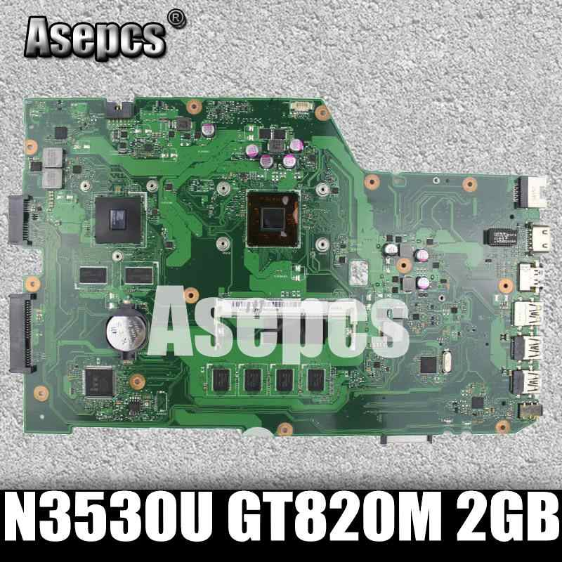 Asepcs X751MD עם N3530 מעבד GeForce GT820M 2GB mainboard לasus K751M X751MA R752M האם מחשב נייד 100% נבדק