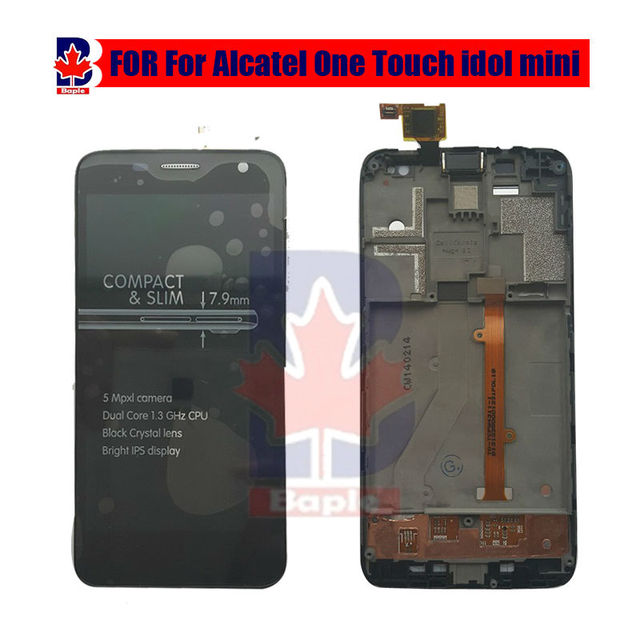 100% work LCD Display Touch Screen lcdassembly + Frame For Alcatel One Touch Idol Mini 6012 6012A 6012D 6012W 6012X lcd