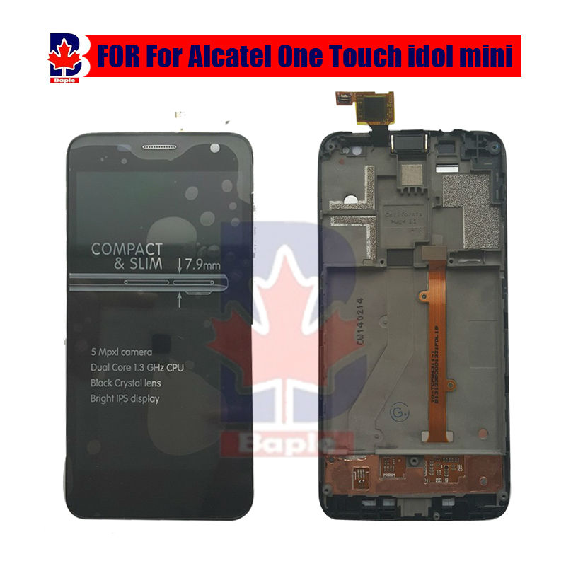 new Original LCD Display Touch Screen lcdassembly Frame For Alcatel One Touch Idol Mini 6012 6012A