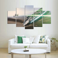 5 Pieces Star Wars Tie Fighter Millennium Falcon Modern Home Wall Decor Canvas Picture Art HD