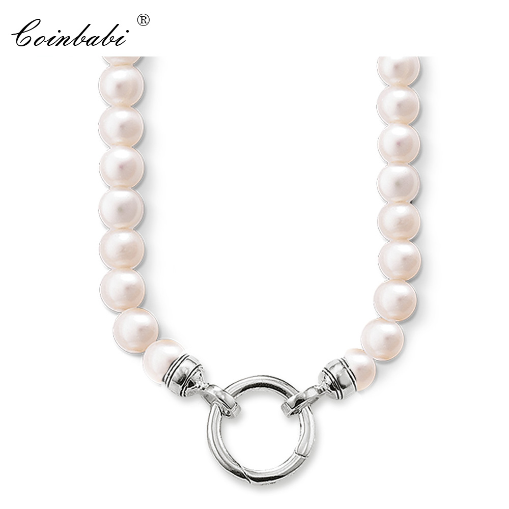 Necklace Freshwater Pearls Bead Trendy Gift For Women, Thomas Style Glam Charm TS 925 Sterling Silver Fashion Jewelry Wholesale