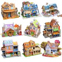 3D Paper Board Puzzle Construction Assemble Early Learning Toy Children Gift(China)