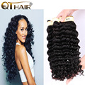Malaysian Virgin Hair 3Bundles Malaysian Deep Curly Virgin Hair 7A Unprocessed Malaysian Deep Wave Human Hair Weave 100g/Pcs
