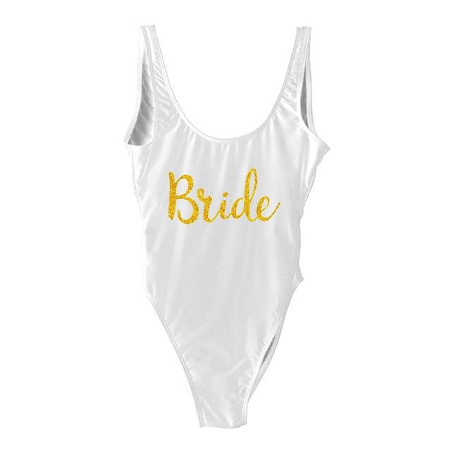 9b8e19dfdf25c Bride Bathing Suits Honeymoon Swimwear Swimsuit Bridesmaid Gift. Bride  Wedding Gift. Maid of Honor. Bachelorette Swim.
