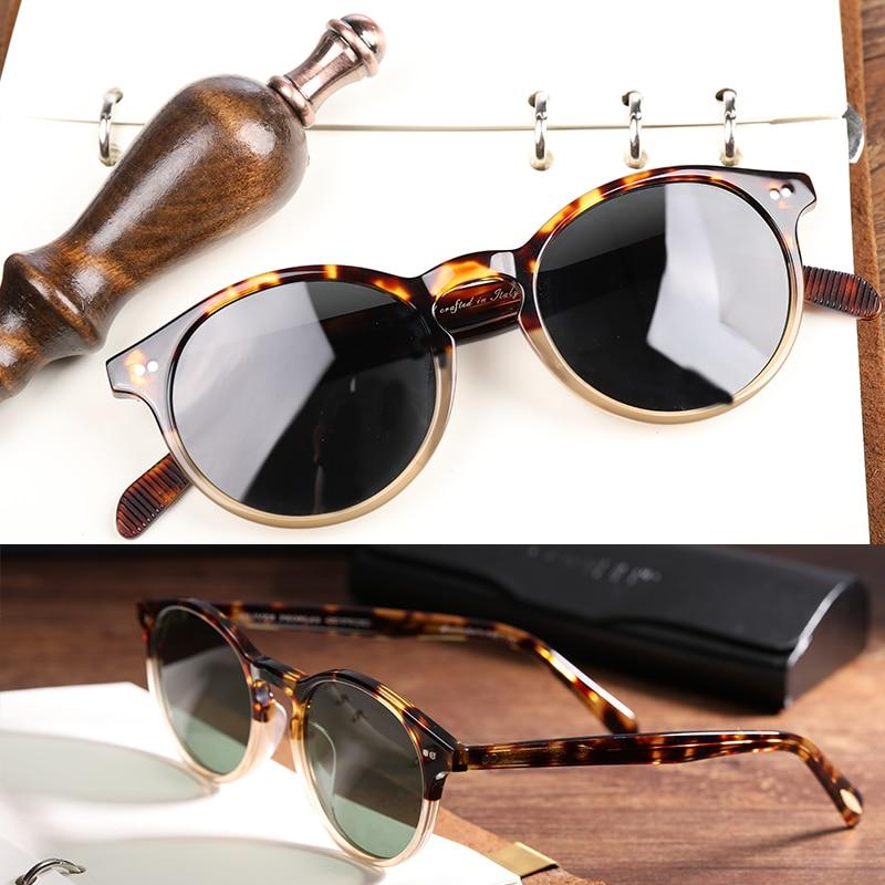 New Sunglasses For Men Women OV5241 Top Quality Round Vintage Sun Glasses Polarized Zonnebril Mannen UV400