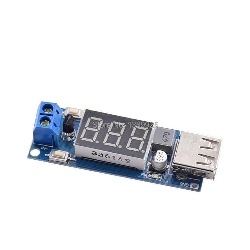 Automatic Protection! DC 4.5-40V To 5V 2A USB Charger LED Step-down Buck Converter Voltmeter Module Low Power Free Shipping