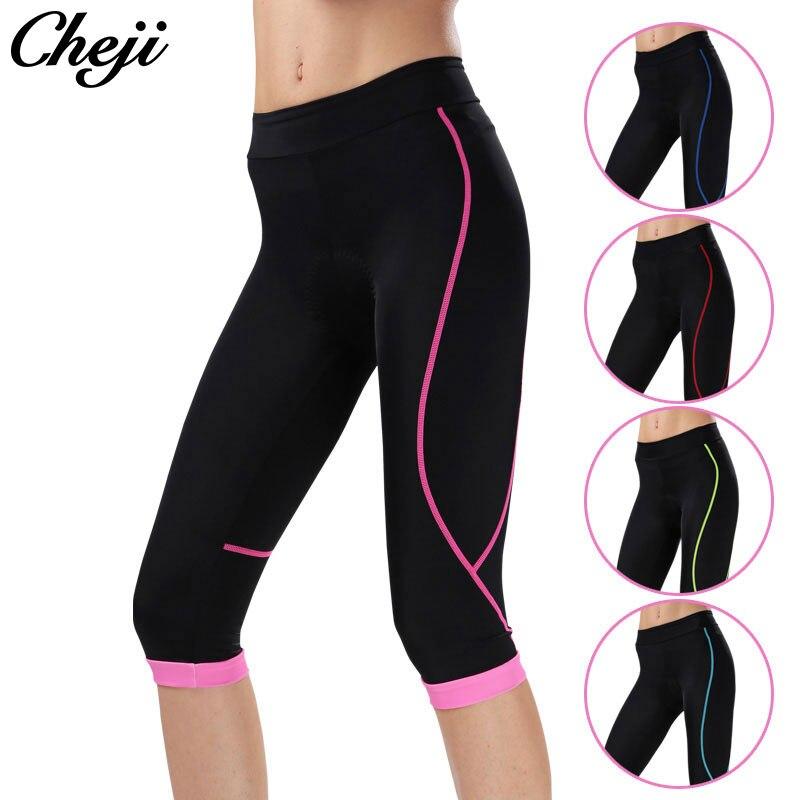 Летом cheji номер пунк спортивные брюки гель 5 цветов Pro команда женщины Велоспорт 3/4 брюки шорты MTB дорожный велосипед