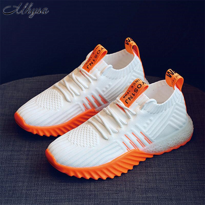 Mhysa 2019 Spring New Women Shoes Casual  Fashion Tenis Feminino Light Breathable Mesh Lace-up Shoes Woman White Sneakers T268