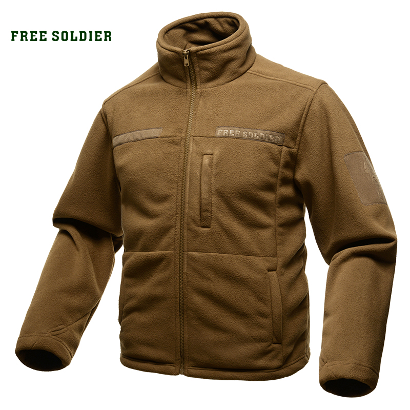 FREE SOLDIER Outdoor Sports Camping Hiking Jackets Men s Clothing Tactical Fleece Jacket Wear resistant for