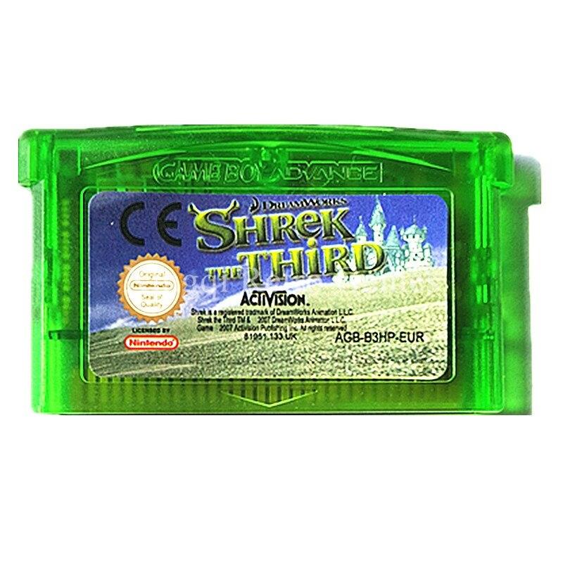 Nintendo GBA Game Shrek the Third Video Game Cartridge Console Card ENG/FRA/DEU/ESP/ITA/NED Language