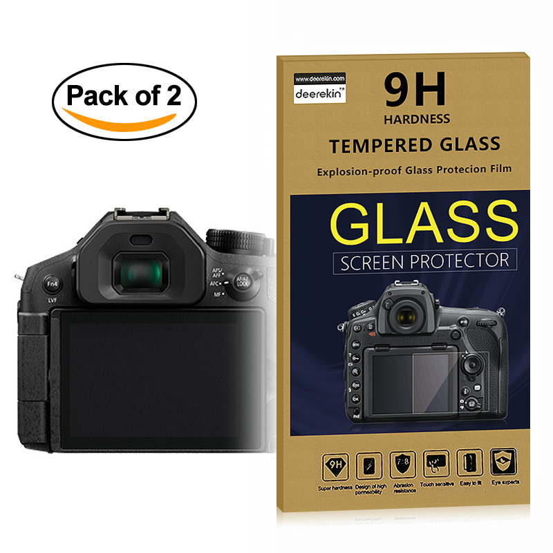 2x Self-Adhesive 0.3mm Glass LCD Screen Protector for Panasonic Lumix DMC-FZ300 DMC-FZ330 / DMC FZ300 FZ330 Digital Camera image