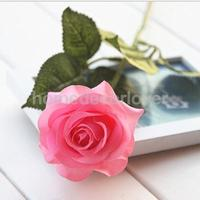 1*20 Heads Real Touch Latex Rose Artificial Daisy Flowers Home Decor Pink