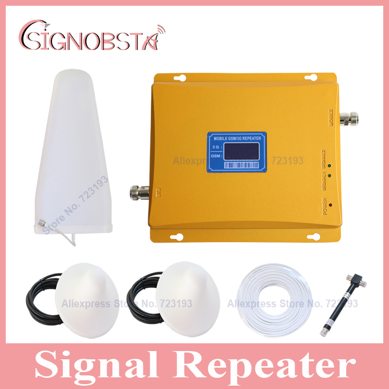 2 rooms using new cell phone dual band booster for home amplifier with 2 indoor ceiling antennas and 1 pc splitter 2017 on sale