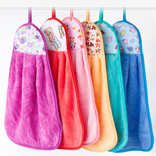 30x40cm  Coral towel Hand Towel wholesale Home Cleaning kitchen hangs the not to drop wool, clean bibulous