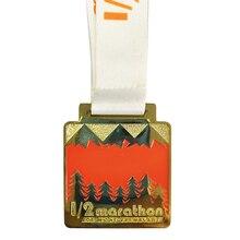 50 мм 200 шт. 1 мягкая эмаль цвет индивидуальный цинковый сплав блестящие золотые марафон спортивная медаль