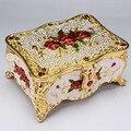 Joyería bienes Ruso princesa estilo retro Princesa Europea caja de reloj joyero moneda de cobre decoración