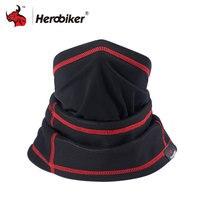 HEROBIKER Moto Masque Hiver Thermique Fleece Balaclava Hat Capot Vélo Wind Stopper Masque Hommes Neck Warmer Hiver Polaire