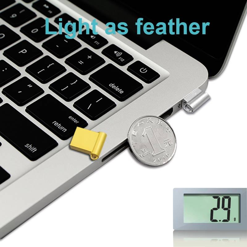 Ingelon Mini USB Thumb Drive 32gb Metal USB flash drive 32 GB - შემნახველი წყაროები - ფოტო 6