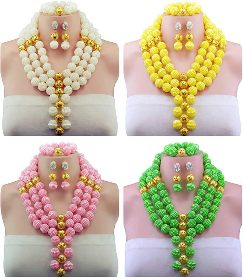 10Color African Beads Jewelry Set 2016 Nigerian Wedding African Beads for Brides Party Bridal Jewelry Set