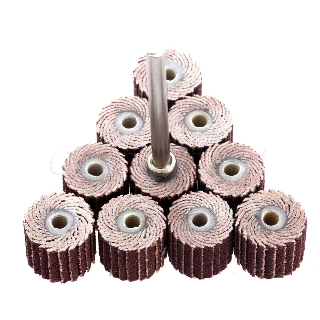 10pcs 240 grit 10 x 10x 3mm sanding flap disc grinding flap wheels brush sand rotary
