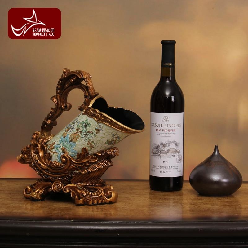 Retro Home Furnishing gift wine rack cabinet decor decoration wine rack living room TV cabinet style furnishings
