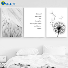 Feather Dandelion Quotes Wall Art Canvas Painting Nordic Posters And Prints Canvas Poster Wall Pictures For Living Room Decor moon sun quotes nordic poster wall art canvas painting posters and prints canvas art print wall pictures for living room decor
