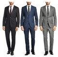 New Personalizado vestido de terno dos homens de negócios vestido de festa dos homens magros terno trabalhar desgaste do negócio vestido Formal (jacket + pants + tie)