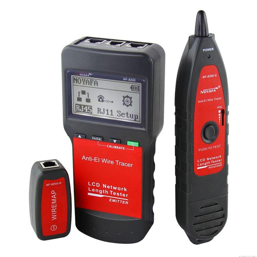Сети коаксиальный кабель тестер NF8200 локальной сети телефонный кабель тестер RJ45 RJ11 кабель Непрерывность тестер осмотр провода Tracker