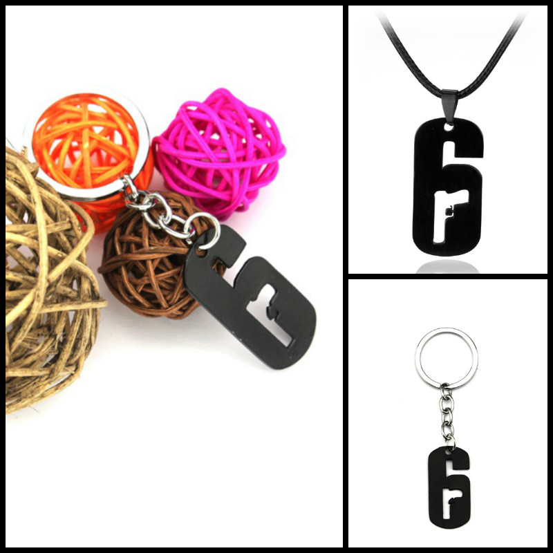 US $1 99 |Aliexpress com : Buy Game Tom Clancy's Rainbow Six: Siege  Operators Rope Chain Alloy Game Necklace Dog Tag Gun Black Charm Pendant  For men
