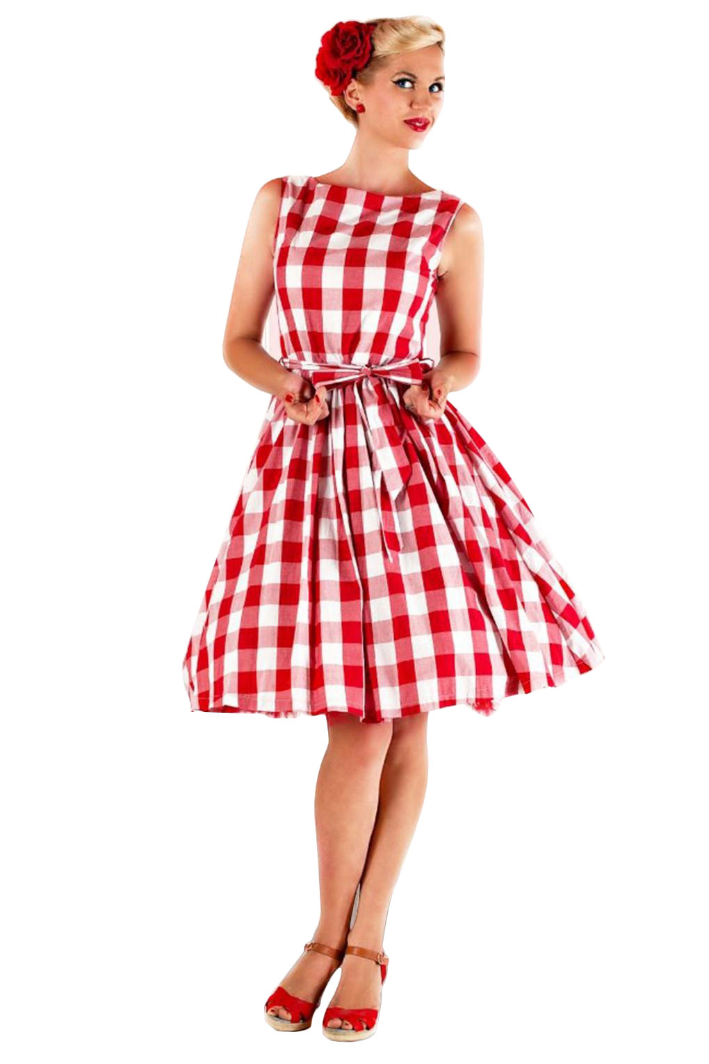 Popular Red Gingham Dress-Buy Cheap Red Gingham Dress lots from ...