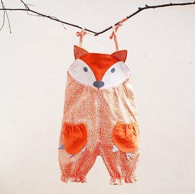 Heißer babykleidung Strampler Neugeborenen Baby Mädchen Jungen Kleidung Fox Drucken Jumpsuit Outfit baby sommer kleidung