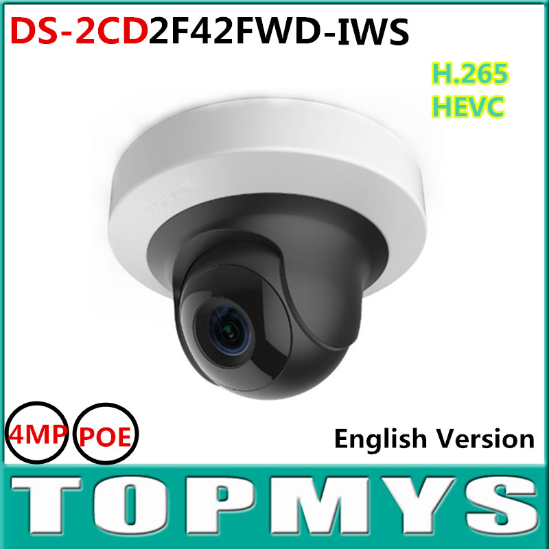 4MP WDR Mini PT Network Camera DS 2CD2F42FWD IS1080P POE IP Camera Bulid in SD card