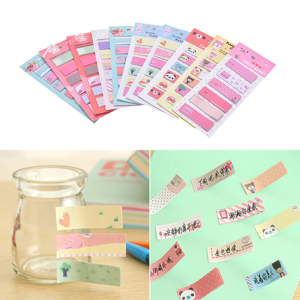 Sticky paper for crafts - Diy Mini Cute Kawaii Cartoon Stickers Note Paper Stickers Korean Stationery Arts Crafts Stickers China