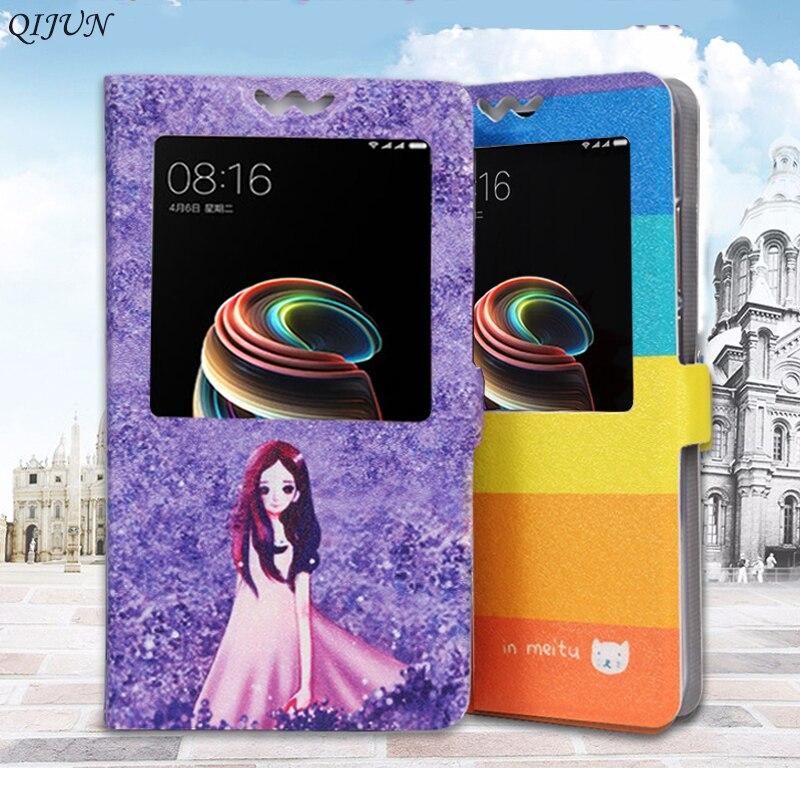 Flip Window Painted Case For Huawei Ascend Y330 Y360 Y511