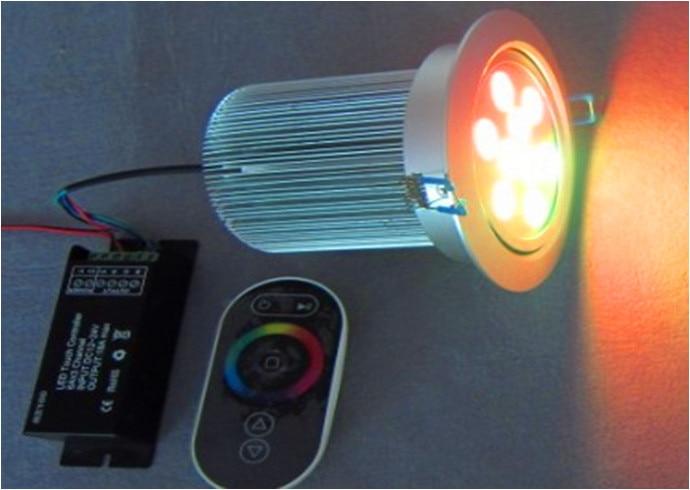 3*3W RGB LED downlight;DC12V input;with 4 wire PWM driver inside ...