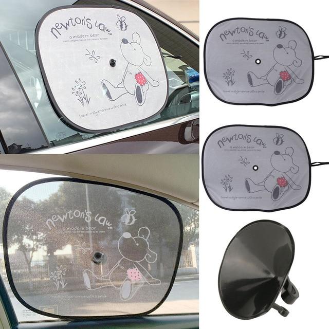 2Pcs Sets Car Sun Shade Visor Auto Cartoon Window Curtain With Suction Cup  Baby Children Car Curtain Auto Sun Shade Car Sunshade dc714b65616