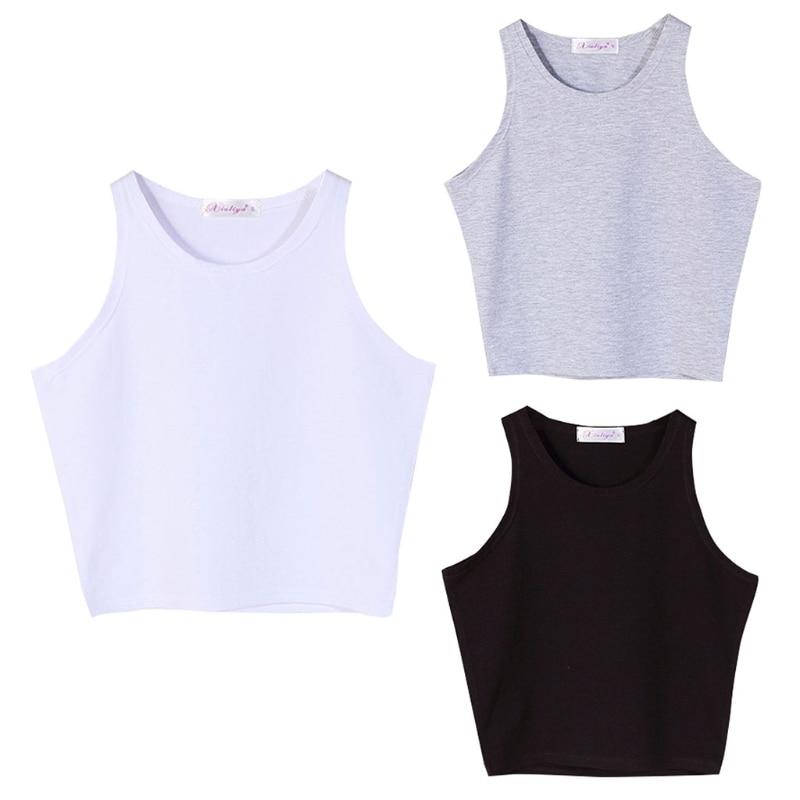 Lingerie Women Casual Bandage Sleeveless Tank Slim Short Tops Solid Bodycon Summer Blouse