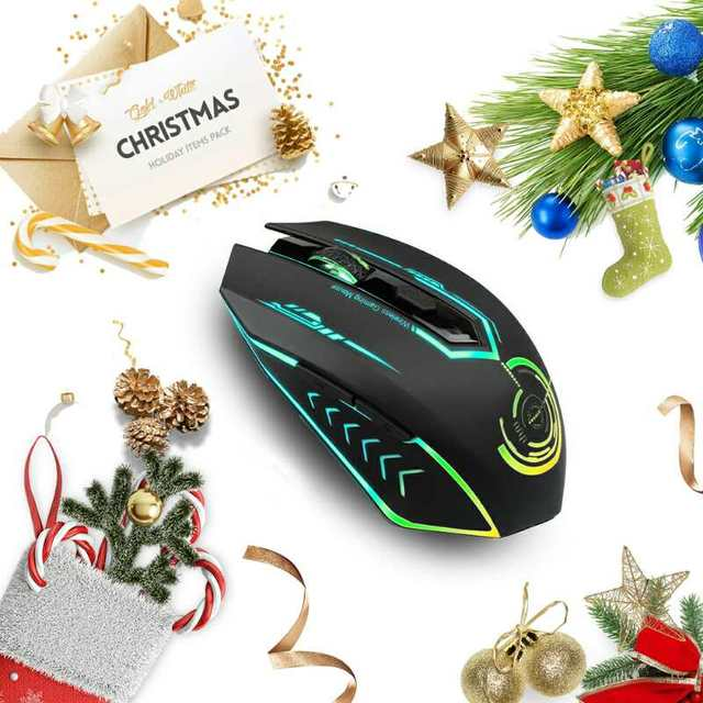 Gaming Mouse Wireless 5 Buttons Changeable LED Color Ergonomic 10000 DPI PC Mouse for Computer Gaming