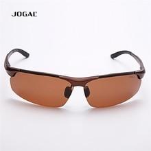 Driving JOGAL Man Aluminum Magnesium Frame Sunglasses Eyewear Outside Used UV Procting Male Sun Glasses JG8006