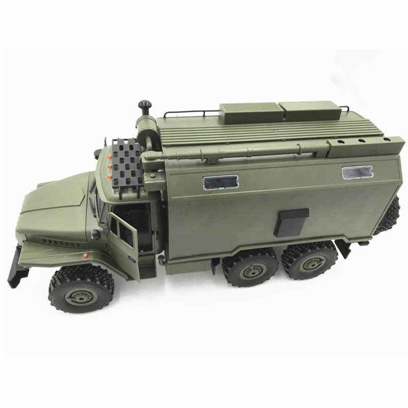 WPL B36 Ural 1/16 2.4G 6WD RC Auto Militaire Vrachtwagen Rock Crawler Commando Communicatie Voertuig RTR Speelgoed Groen Kids kerstcadeau