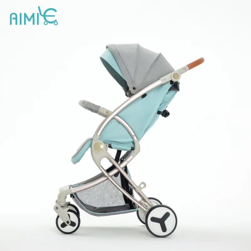 Aimile baby stroller light folding umbrella car can sit can lie ultra-light portable on the airplane
