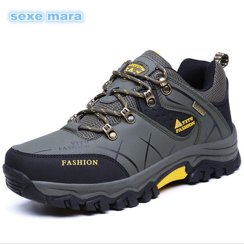 Size 39-47 2017 Outdoor Sport shoes men Sneakers men shoes Running shoes Brand Anti-skid Off-road waterproof Walking Trainers R7 2017brand sport mesh men running shoes athletic sneakers air breath increased within zapatillas deportivas trainers couple shoes