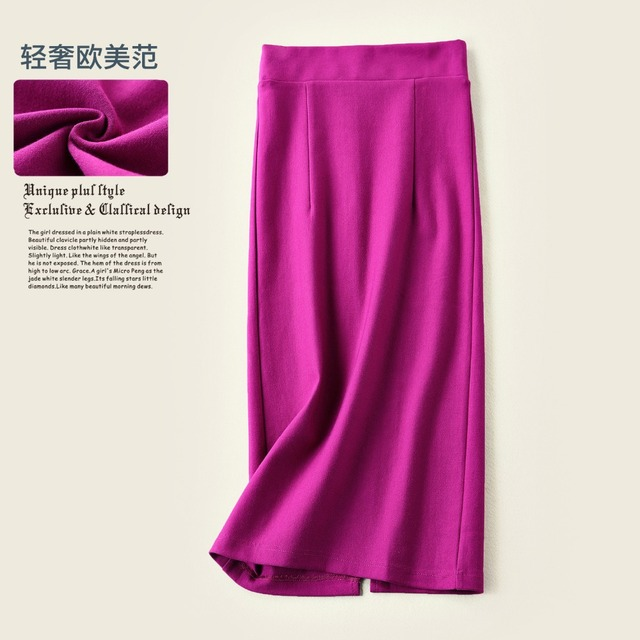 3905261ab3 50% OFF Quality Slim Wrap Skirts Women High Waist Fashion Stretched Pencil  Skirts Working Office Lady OL Skirts Midi Back Slip