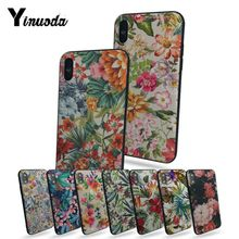 Yinuoda Colorful Flower Leaf Cute Phone Accessories Case For iphone x  xs xr 8 8plus 7 7plus 6 6plus 5 5s 5c SE XSMAX