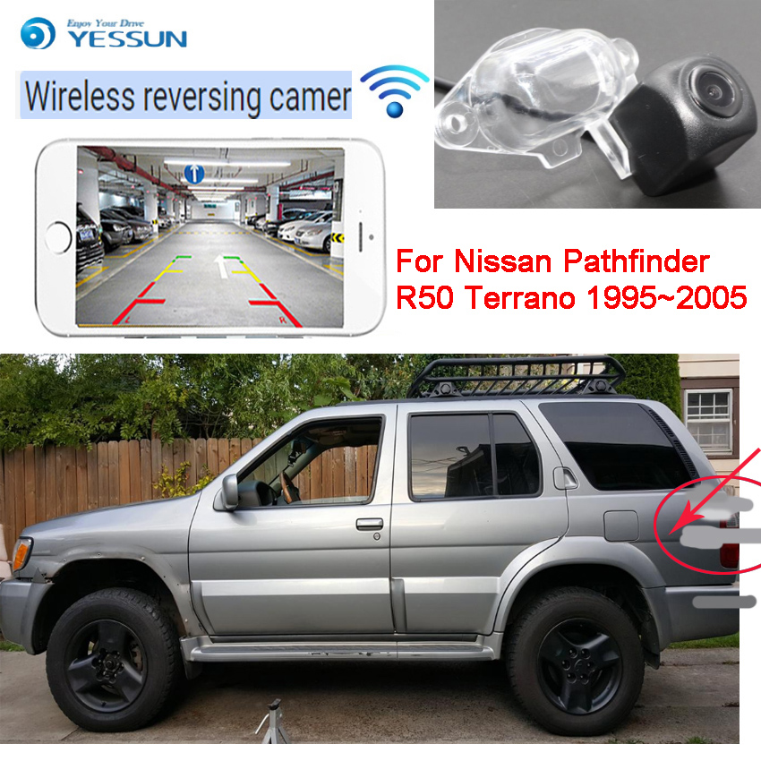 NEW wireless car reversing rear view camera For Nissan Pathfinder R50 Terrano 1995~2005 car hd CCD Night Vision+high quality